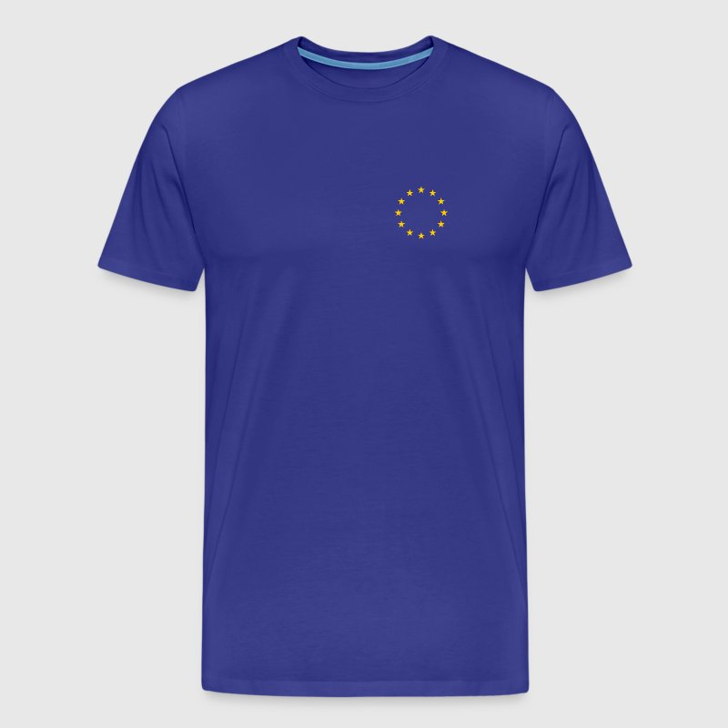 European Union - 12 Gold Stars in a Ring - T-shirt Premium Homme