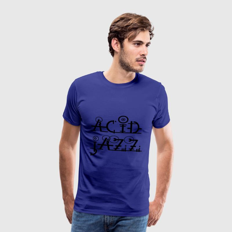 Acid Jazz Font ARt Musik - Men's Premium T-Shirt