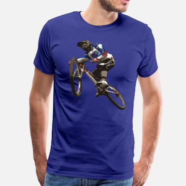 Downhill Mountainbike Freeride Downhill - T-shirt Premium Homme