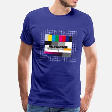 Fernsehtestbild testbild nerd is the new sexy testpattern retro - Männer Premium T-Shirt