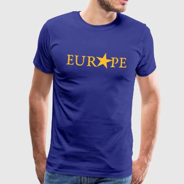 EU, YELLOW STAR, PULSE EUROPE,  European Union - Men's Premium T-Shirt