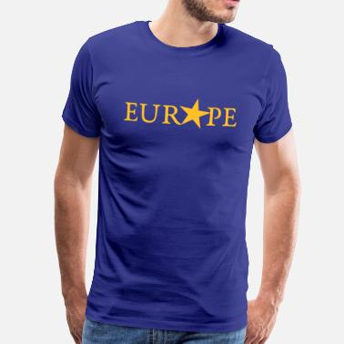 Europe I Love Eu EU, YELLOW STAR, PULSE EUROPE,  European Union - Men's Premium T-Shirt