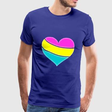 Pansexual Omnisexuality Heart Gender Love LGBT - Mannen Premium T-shirt