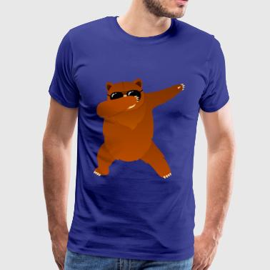 Dabbing Bear With Sunglasses - Cool Gift - Männer Premium T-Shirt