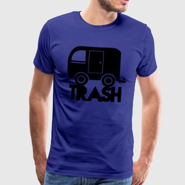 Trailer Trash TRAILER trash simple caravan camper - Men's Premium T-Shirt