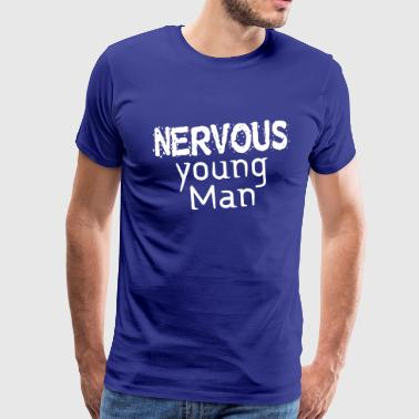 Nervous young Man - Männer Premium T-Shirt