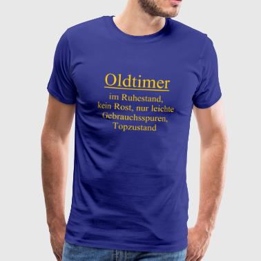 Grandfather Tops Retired old-timer, no rust, signs of use - Men's Premium T-Shirt