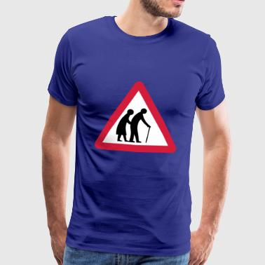 Beware old people - Men's Premium T-Shirt