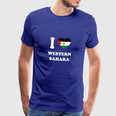 i love home gift country WESTERN SAHARA - Men's Premium T-Shirt