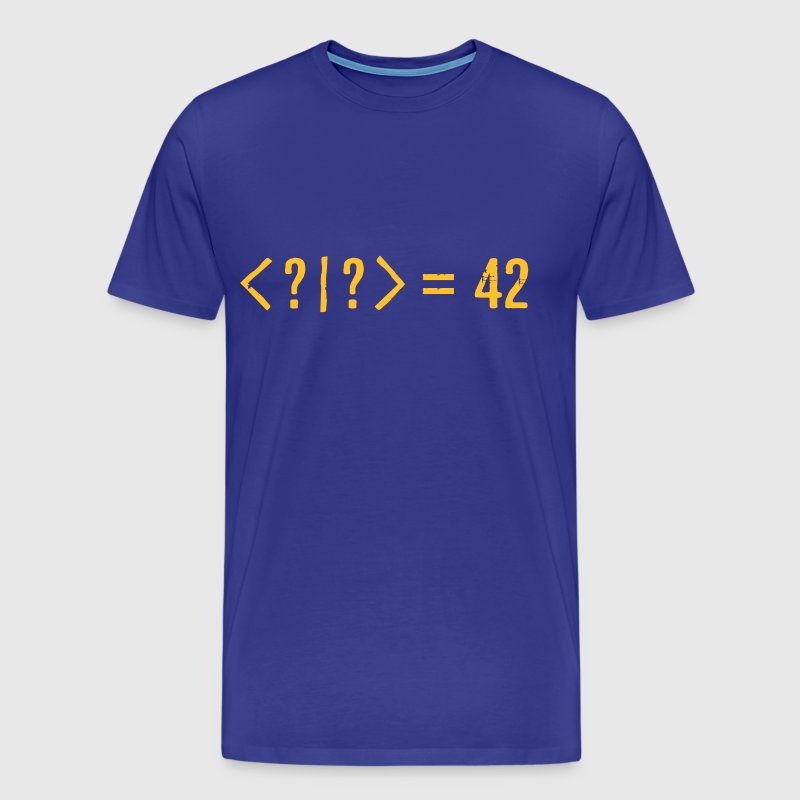 Best Quantum Joke Ever: Bra-Ket = 42 (Grunge) - Men's Premium T-Shirt