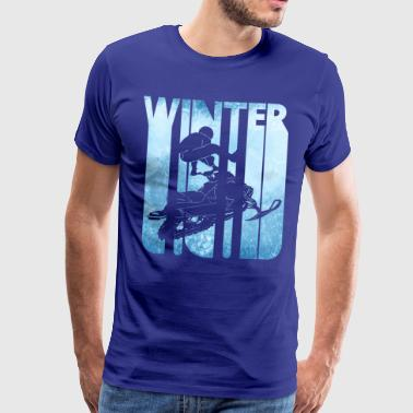 Retro Winter Holiday. Snowmobiling.Christmas Gifts - Men's Premium T-Shirt