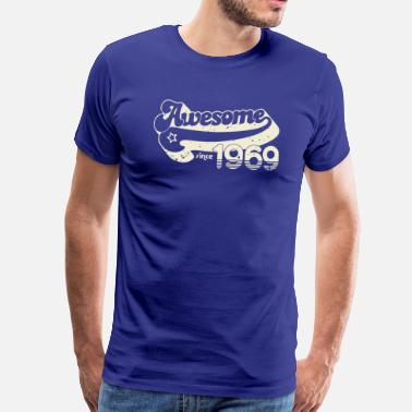Awesome Since Awesome since 1969 - Premium T-skjorte for menn