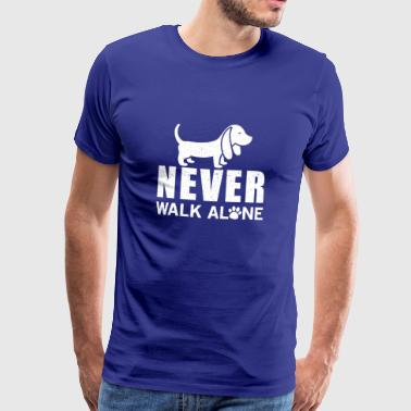 Never walk alone - Mannen Premium T-shirt