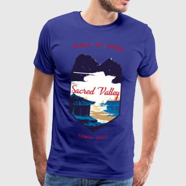 World Of Tanks Sacred Valley Winter - Herre premium T-shirt