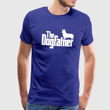 The Dogfather: Corgi (Hell) - Mannen Premium T-shirt