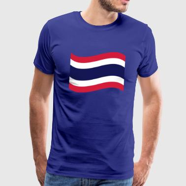 Thai Flag Wave - Men's Premium T-Shirt