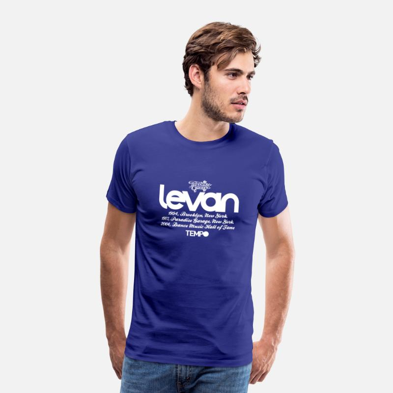 Larry Levan Paradise Garage House Music Legend Tempo T-Shirts - Levan Paradise Garage in White - Men's Premium T-Shirt royal blue