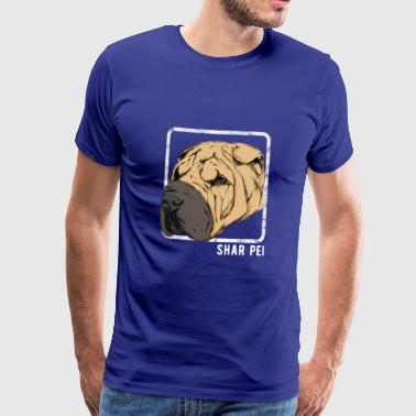 Dogs - Shar Pei - Men's Premium T-Shirt