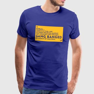 Gangbang Gangbanged By A Stack Of Crayons - Men's Premium T-Shirt