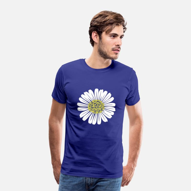 Madeliefjes T-Shirts - madeliefjes - Mannen premium T-shirt koningsblauw