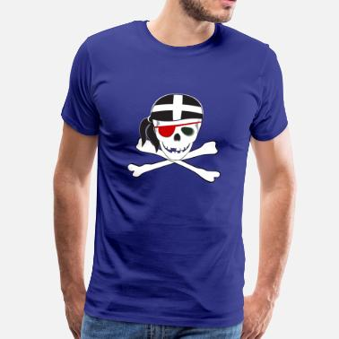 Kernow-flag Cornish Jolly Roger - Men's Premium T-Shirt
