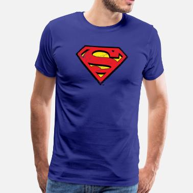 Super Héros DC Comics Superman Logo Look Usé - T-shirt Premium Homme