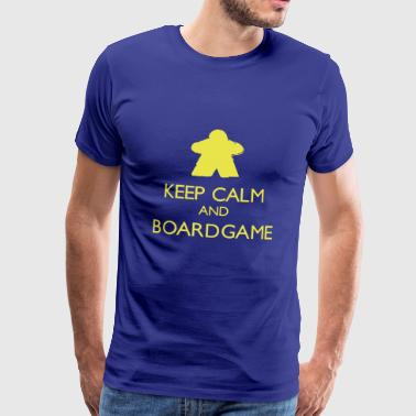 Meeple Keep Calm and Boardgame - T-shirt Premium Homme