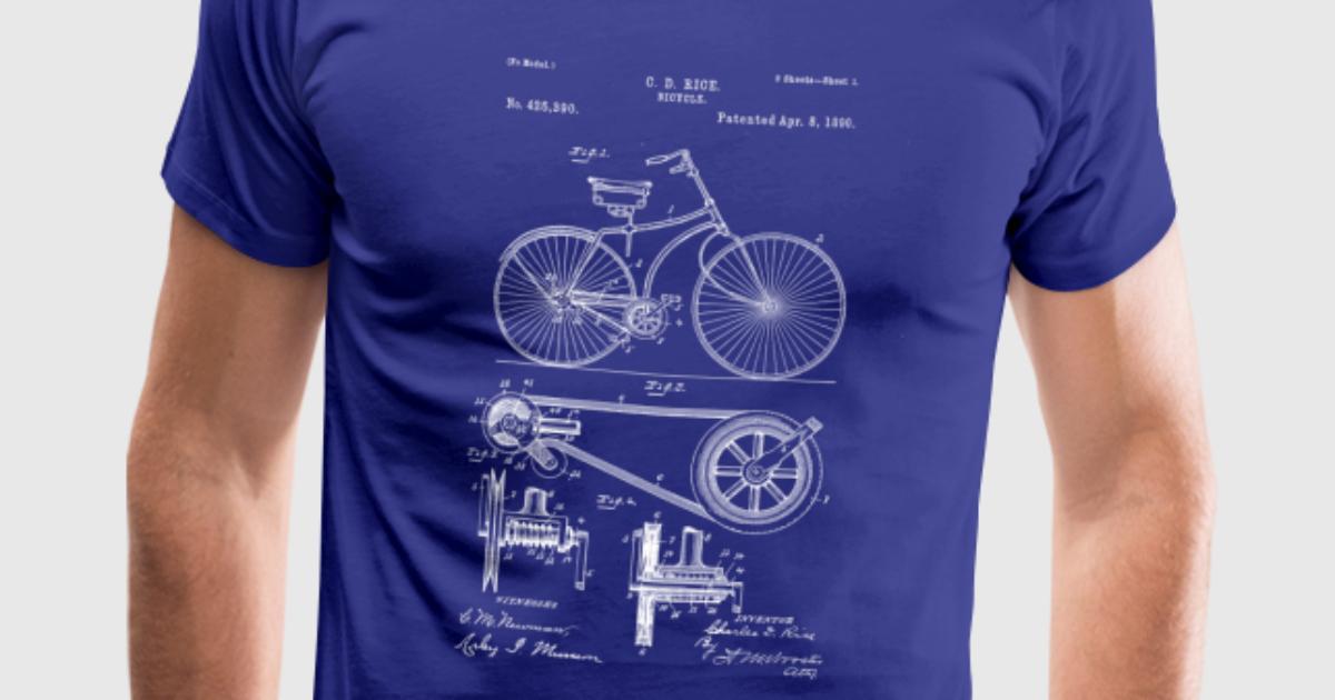 Vintage Fahrrad Zeichnung Blaupausen von Tbee | Spreadshirt