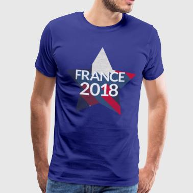 France France 2018 Retro Star Star World Cup - Men's Premium T-Shirt