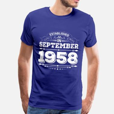 Edition Etablerat i September 1958 - Premium-T-shirt herr