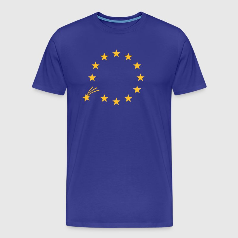 EU, Stars, Europe, European Union, falling star - Men's Premium T-Shirt