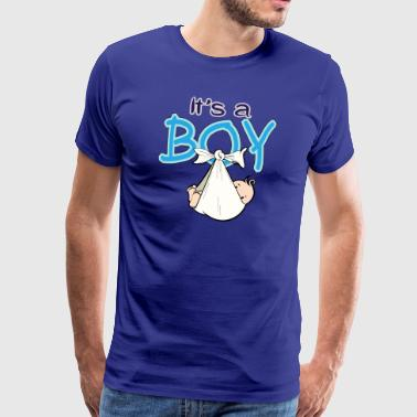 Baby Shower Boy Blue - Männer Premium T-Shirt
