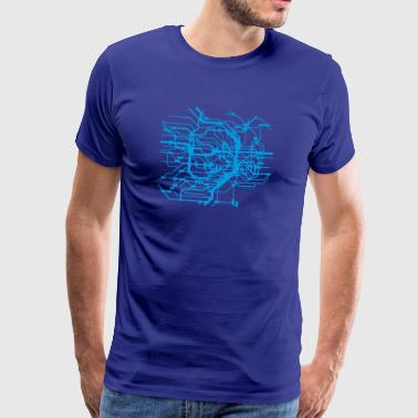 Lost in Transmission ­ Blue - Männer Premium T-Shirt