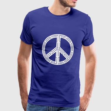 Tribal Peace Love Tribal tattoo peace sign - Men's Premium T-Shirt
