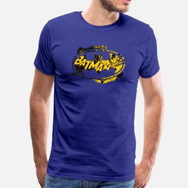 Officialbrands Batman Geel Logo T-Shirt voor mannen - Mannen Premium T-shirt