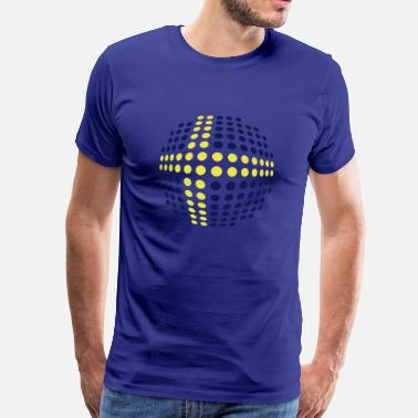 Svenska swedish_flag_2c - Premium-T-shirt herr