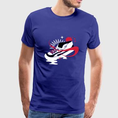 A shoe with laces and various forms - Men's Premium T-Shirt