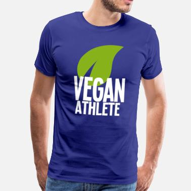 Athlete Vegan athlete white - Men's Premium T-Shirt