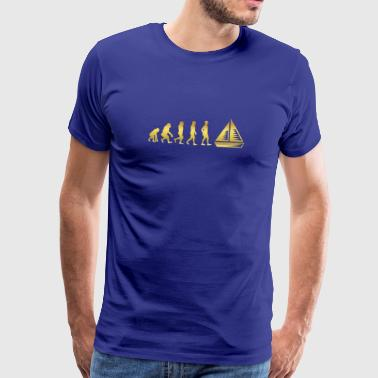evolution human ekg heartbeat selgel sailing vessel - Men's Premium T-Shirt