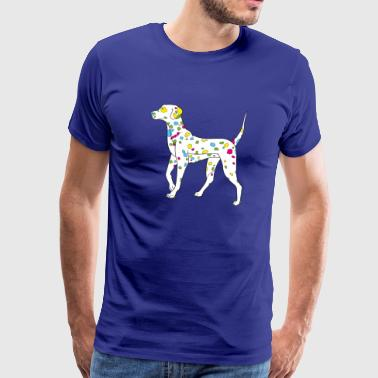 colorfully dog - dalmatiner - Mannen Premium T-shirt