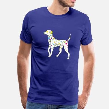 colorfully dog - dalmatiner - Premium T-skjorte for menn