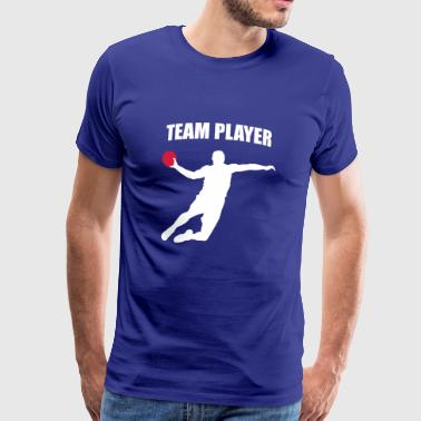 Team Player - Handball Player - Handballer - Men's Premium T-Shirt