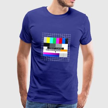 motif de test TV Big Bang capture d'écran d'affichage Mac - T-shirt Premium Homme