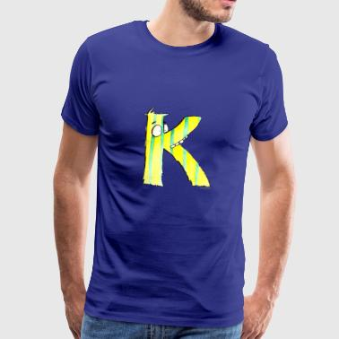 Monster Letter Karoline - Premium T-skjorte for menn