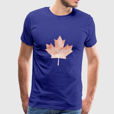 Maple Leaf Calgary - Mannen Premium T-shirt