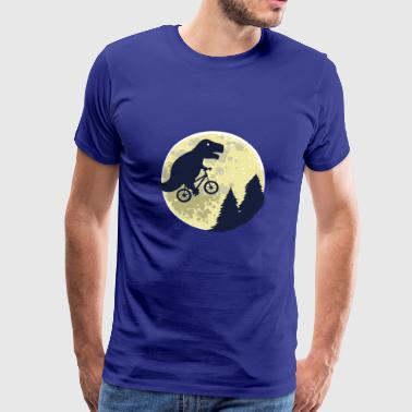 Dinosaur moon funny T-Rex gift birth - Men's Premium T-Shirt