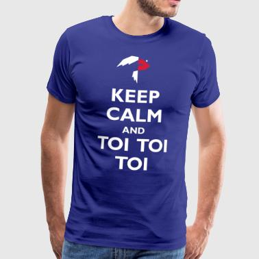 Keep Calm and Toi Toi Toi - Men's Premium T-Shirt