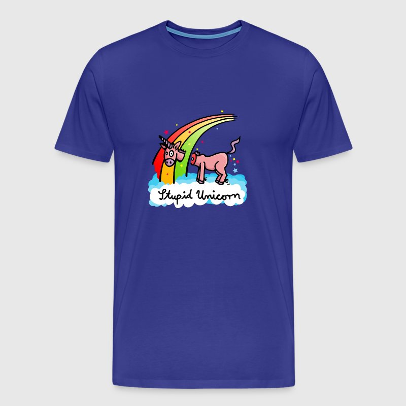 The stupid unicorn loses his head Kids' Shirts - Men's Premium T-Shirt