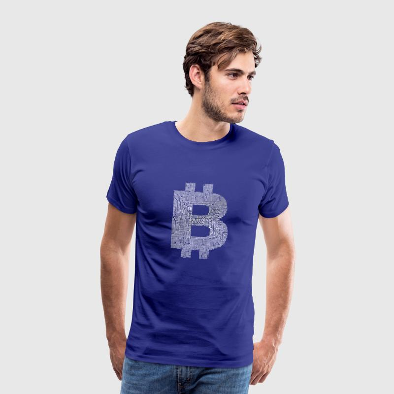 bitcoin typo currency stock money money internet vir - Men's Premium T-Shirt