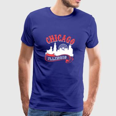 Chicago Illinois Vintage By - Herre premium T-shirt